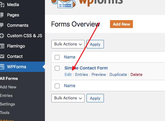Edit a WPForm