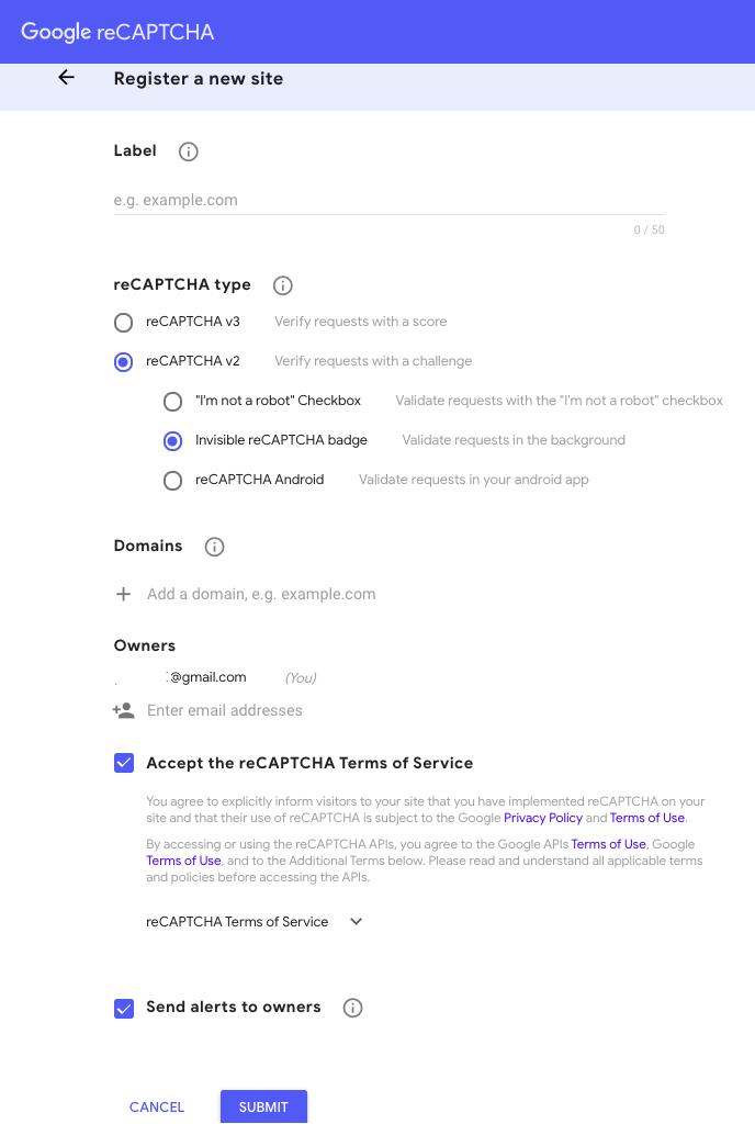 Follow The Google ReCaptcha Instructions