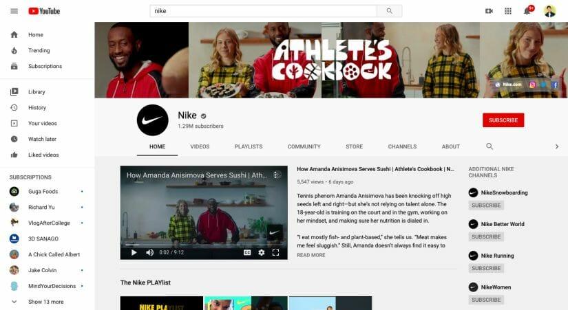 Nike Youtube Sports Marketing Strategy Post