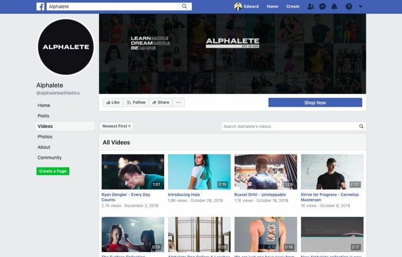 Alphalete Facebook Sports Marketing Strategy Post Youtube