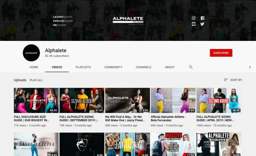 Alphalete Youtube Sports Marketing Strategy Post