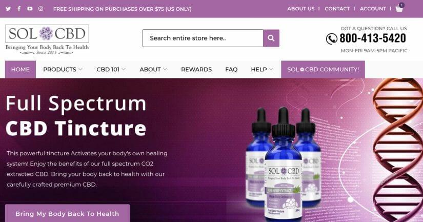 CRO for SolCBD Website