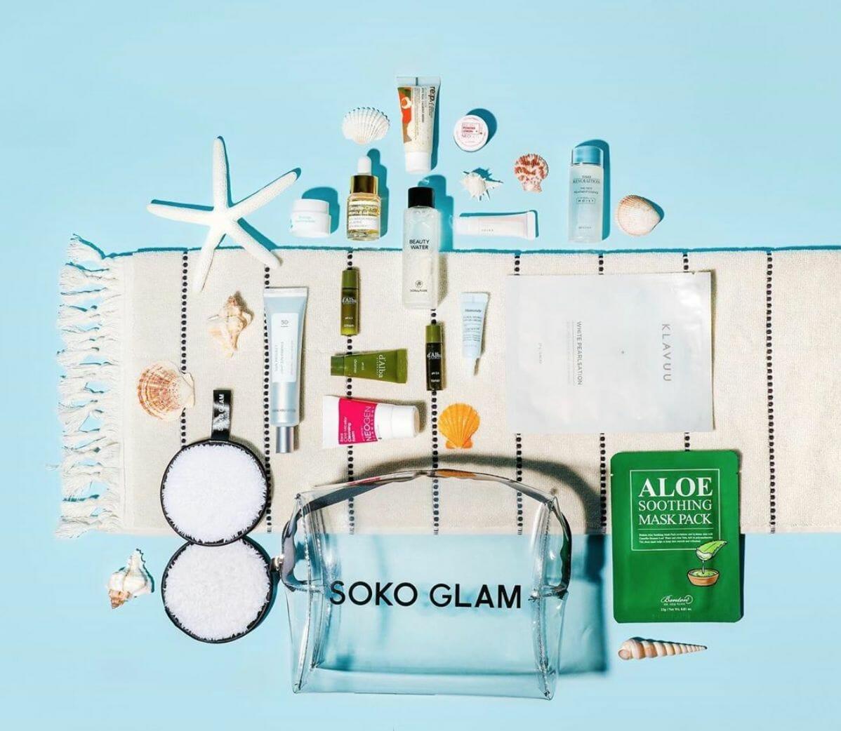 spread of Soko Glam items