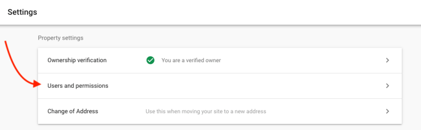 Google Search Console User And Permissions