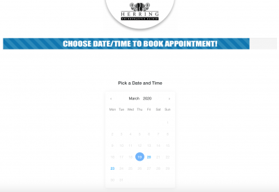 Chiropractic Clinic Facebook Ad Landing Page Calendar