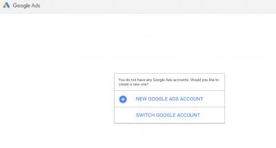 Google ads sign up