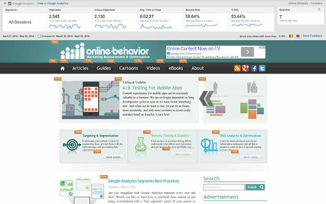Page Analytics by Google Chrome extensions that'll improve your SEO