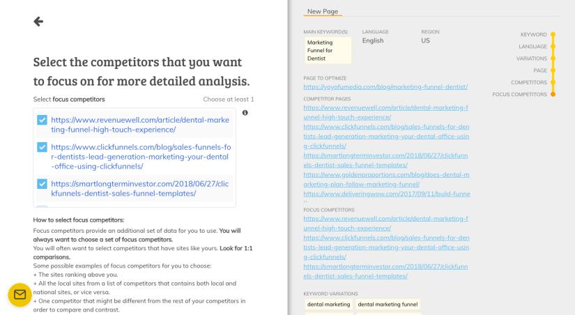 Page Optimizer Pro Focus Competitors