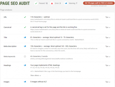 SEOquake Page Audit Free Chrome extensions that'll improve your SEO