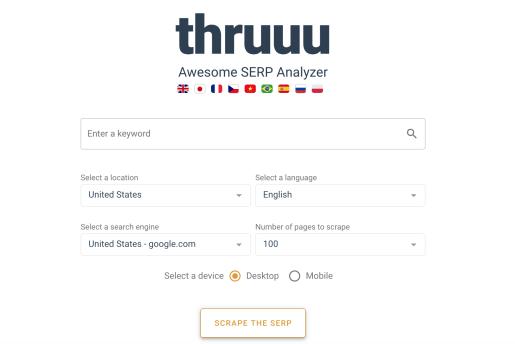 Thruuu Top Free SERP Tools