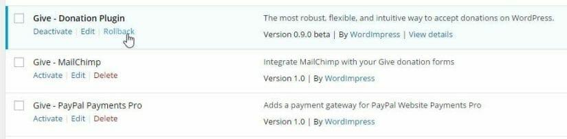 WP Rollback Best Free WordPress Plugins for Blogs