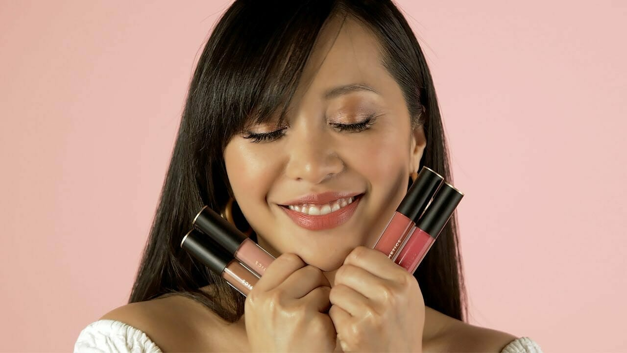 Michelle Phan with new em cosmetics products