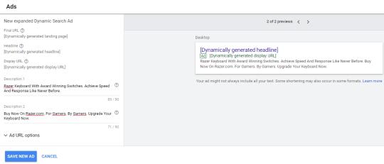 Google dynamic remarketing ads