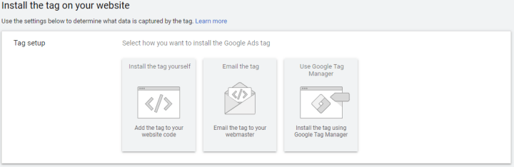 Install Remarketing Tag Google dynamic remarketing ads