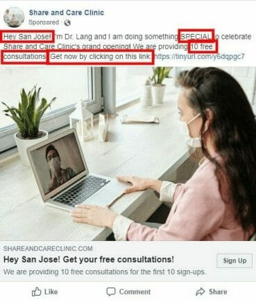 Writing a compelling Facebook ad copy