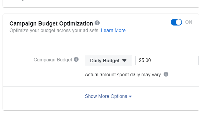 Facebook Ads Daily Budget