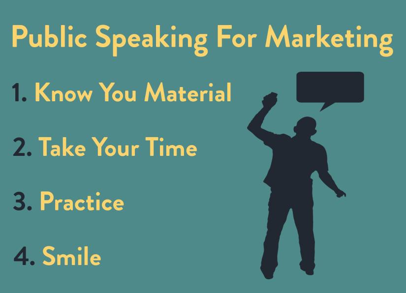 Improve your marketing skills and public speaking skills