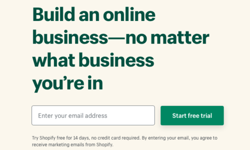 Build a Shopify account
