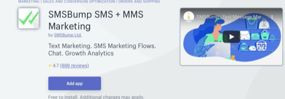SMS Bump Using Shopify
