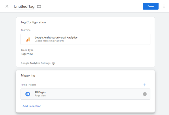 Google Tag Manager Configuration