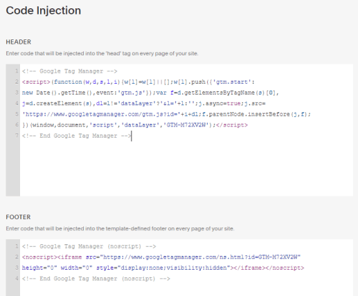 Squarespace Code Injection