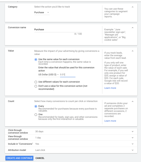 Steps for Conversion Tracking in Google Ads