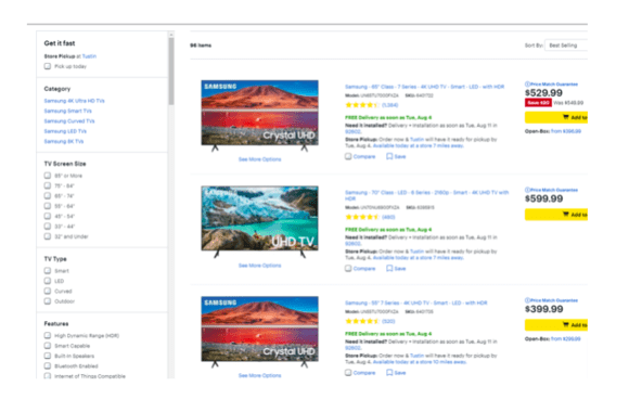 collection page seo example