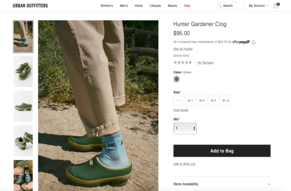 Good example of images on shopify product page: Urban outfitters