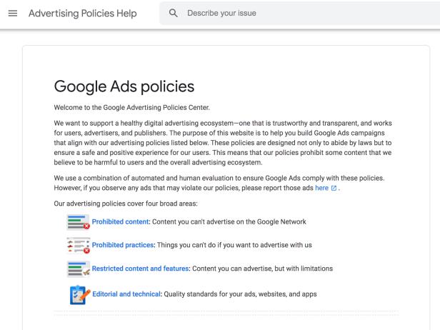 Google Ads Policy