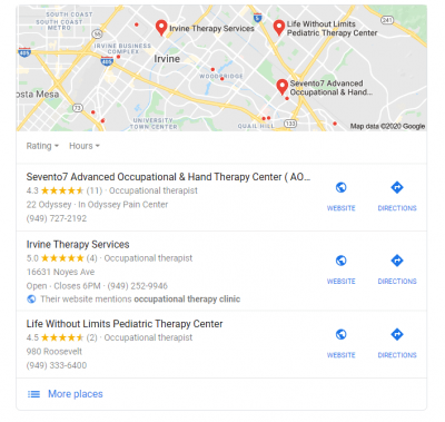 Google my business information