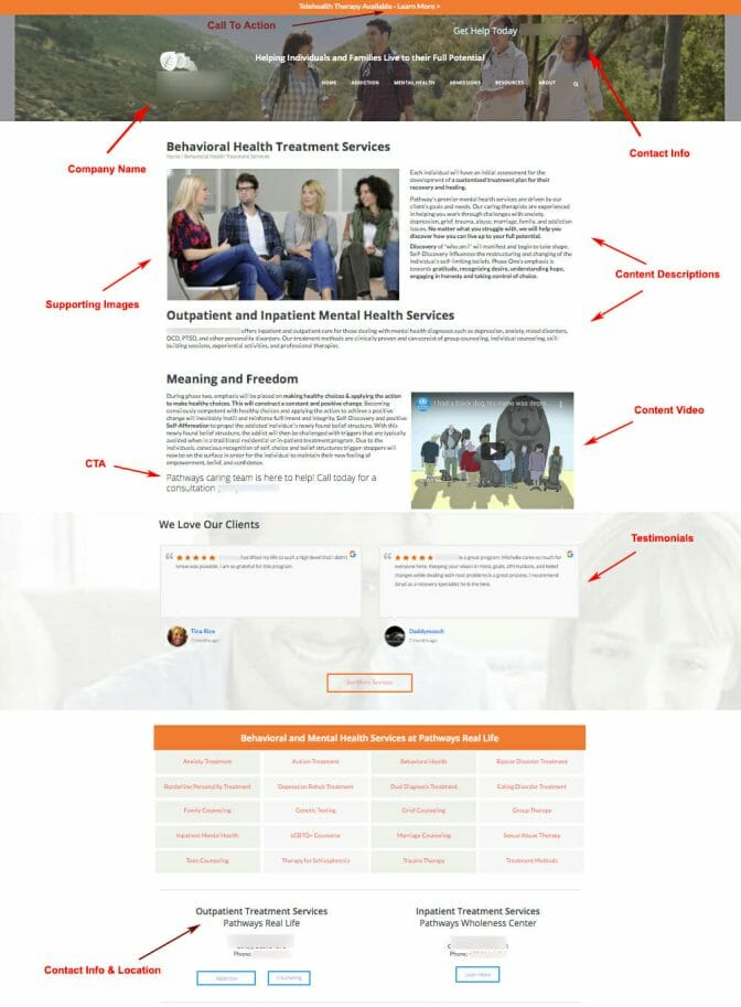 Landing Page official