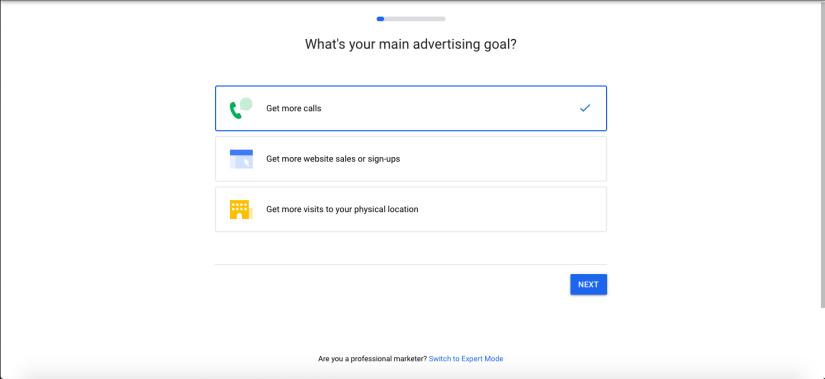 Main Advertising Goal for Google Ads for Hair Salons