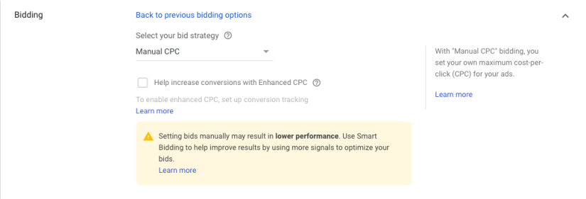 Manual CPC for google ads for hair salons