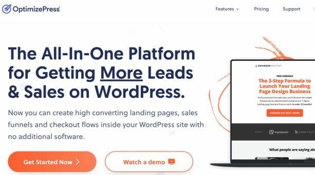 OptimizePress Landing Page Builder on WordPress