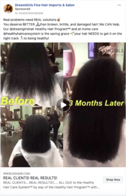 Facebook Ads for Hair Salons, Video Ad