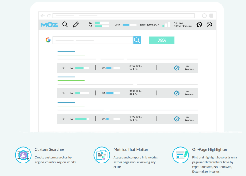 Moz Toolbar for checking your PA and DA ranking