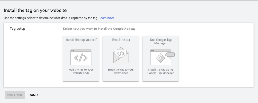 Installing the tag for google ads for hair salons