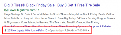 Google Ads Location extensions