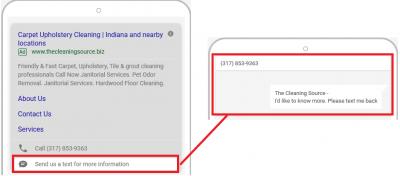 Google Ads Message extension