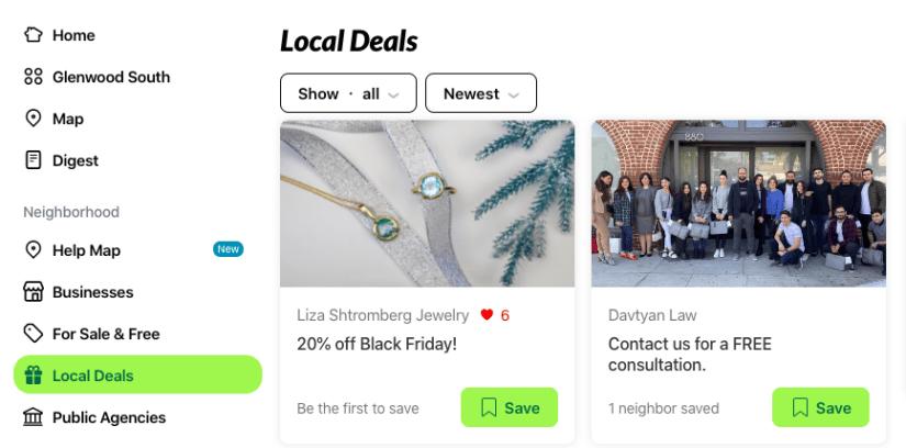 Nextdoor Business Advertising - Local Deals