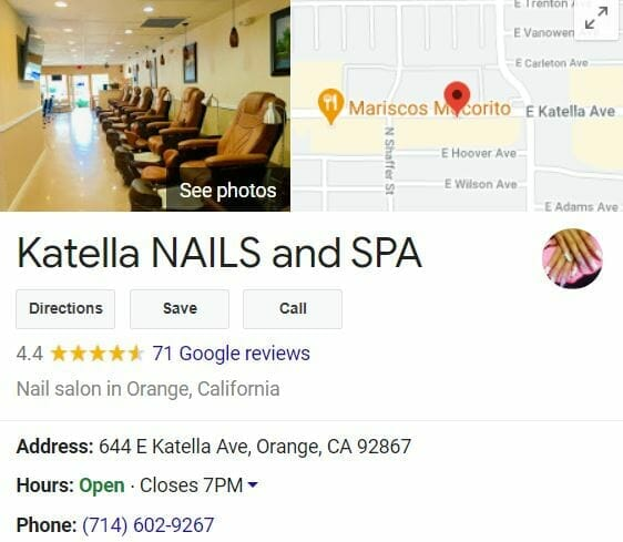 seo for nail salons seo google my business