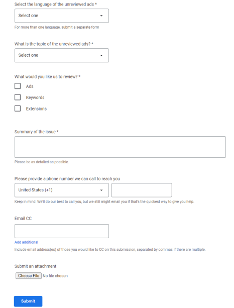 Google Ads Manual Approval