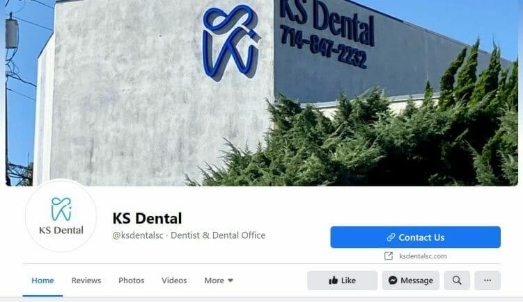 social media for dentist facebook page