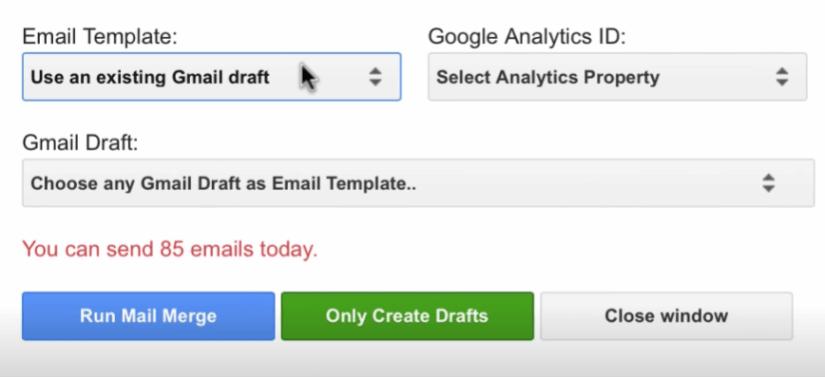 Gmail option