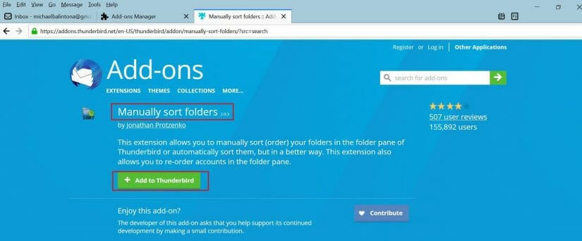 downloading manually sort folder
