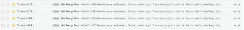 sent emails