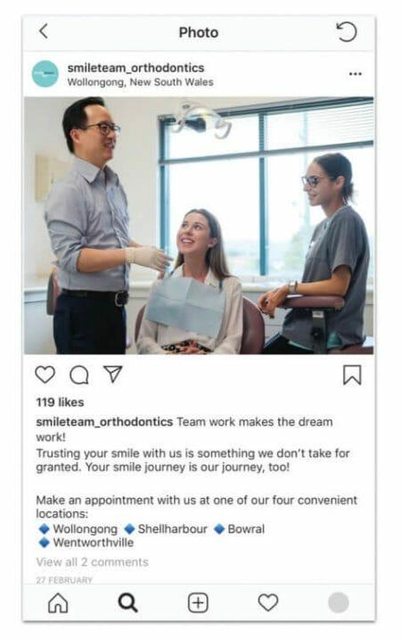 social media ideas for dentists smile post