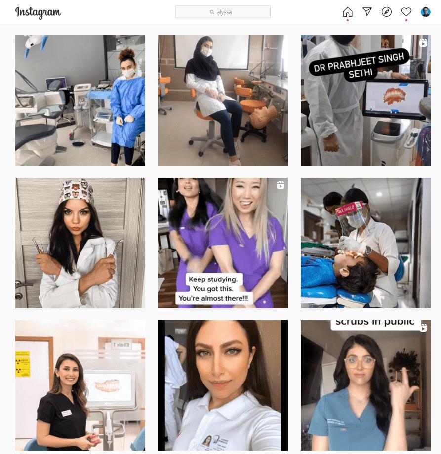 instagram for dentists