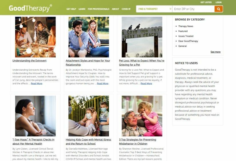 Therapist blog ideas