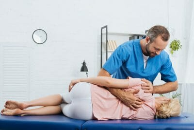Patient with a Chiropractor